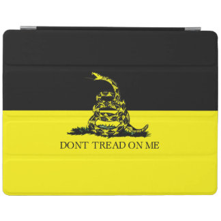 Yellow and Black Gadsden Flag iPad Cover