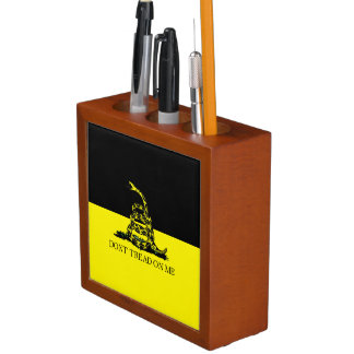 Yellow and Black Gadsden Flag Pencil/Pen Holder