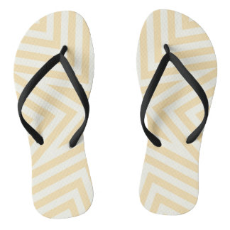 Yellow and black geometrical design, flip flops. flip flops