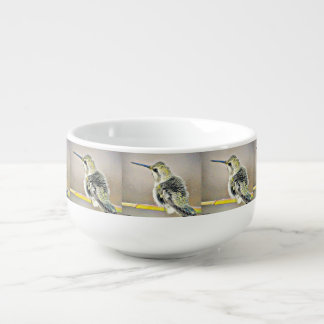 Yellow and Black Hummer Soup Bowl