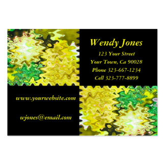 yellow and black pack of chubby business cards