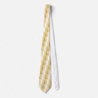Yellow and Black Paris Eiffel Tower Tie