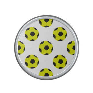 Yellow and Black Soccer Ball Pattern Bluetooth Speaker