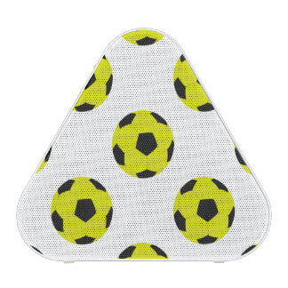 Yellow and Black Soccer Ball Pattern Speaker