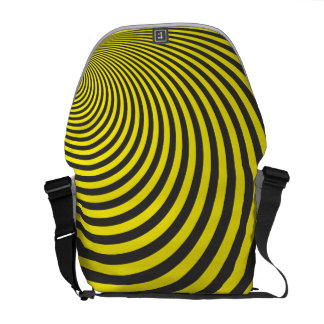 Yellow and black sphere illusion commuter bags