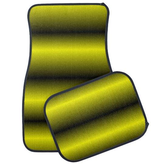 Yellow and Black Stripe Bumblebee Design Floor Mat