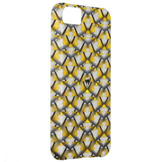 Yellow and Black Striped Diagonal Pattern with Cat iPhone 5C Case