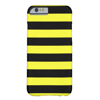 Yellow and Black Stripes Horizontal Bumble Bee Barely There iPhone 6 Case