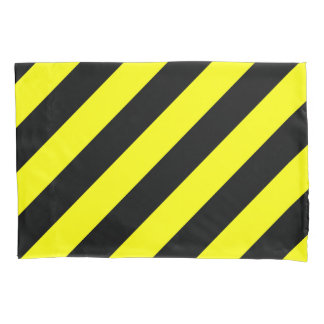 Yellow and Black Stripes Pattern Pillowcase