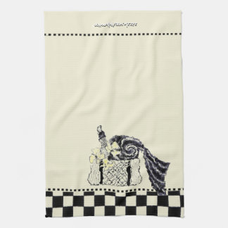 Yellow and Black Summer Picnic Basket Towels