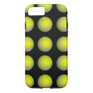 Yellow And Black Tennis Ball Pattern, iPhone 8/7 Case