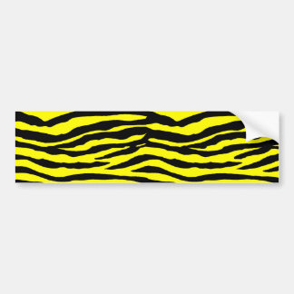 Yellow and Black Tiger Stripes Bumper Sticker