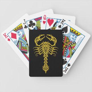 Yellow and Black Tribal Scorpion Poker Deck