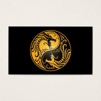 Yellow and Black Yin Yang Dragons