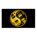 Yellow and Black Yin Yang Guitars Business Cards