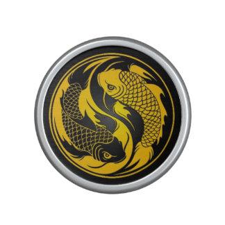 Yellow and Black Yin Yang Koi Fish Bluetooth Speaker