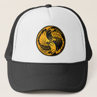 Yellow and Black Yin Yang Scorpions Trucker Hat