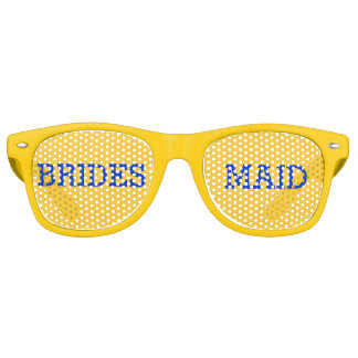 Yellow and Blue Bridesmaid Party Eye Glasses