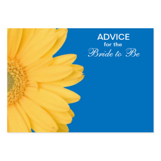 Yellow and Blue Gerber Daisy Advice for the Bride Large Business Cards (Pack Of 100)