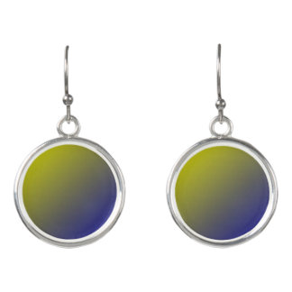 Yellow and Blue Ombre Blend Earrings