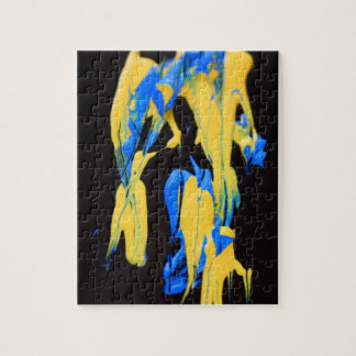 Yellow and blue paints puzzles