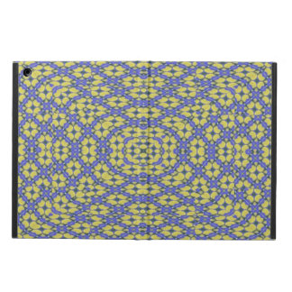 yellow and blue pattern iPad air case