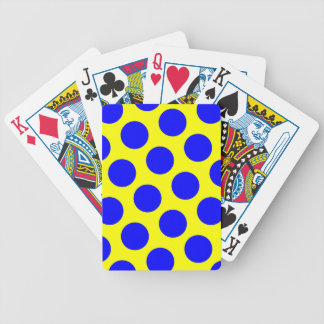 Yellow and Blue Polka Dots Bicycle Playing Cards