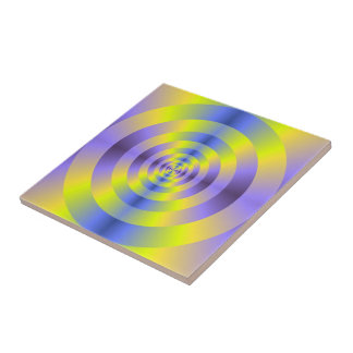 Yellow and Blue Rings tile