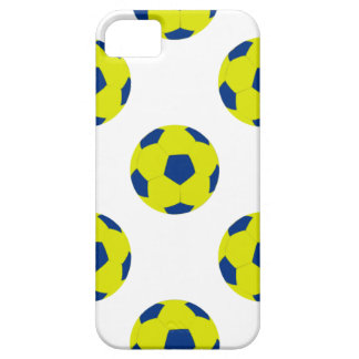 Yellow and Blue Soccer Ball Pattern Case For The iPhone 5