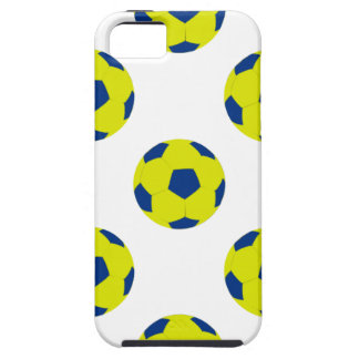 Yellow and Blue Soccer Ball Pattern iPhone 5 Covers