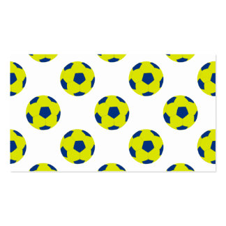 Yellow and Blue Soccer Ball Pattern Pack Of Standard Business Cards