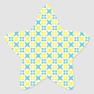Yellow and Blue Star Sticker