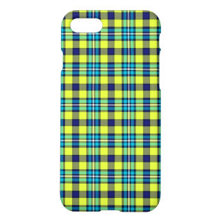 Yellow and blue tartan iPhone 7 case