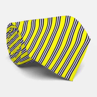 yellow and blue tie