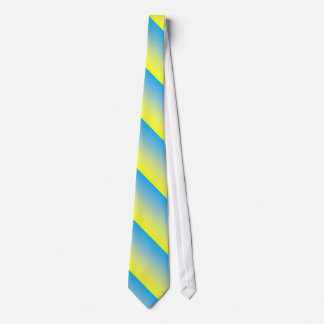Yellow And Blue Two Tone Necktie