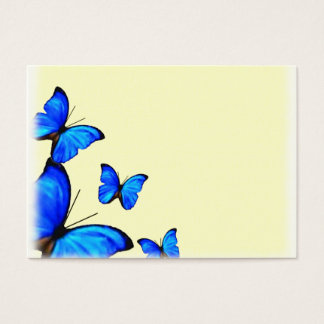 Yellow and Blue Wedding place cards