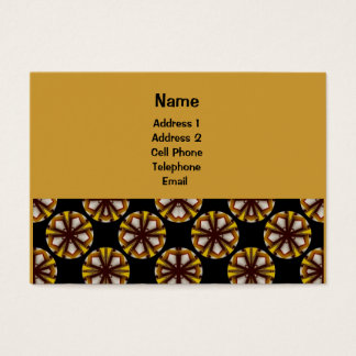 Yellow and brown circle pattern business card