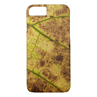 Yellow and Brown Dying Macro Leaf iPhone 7 Case