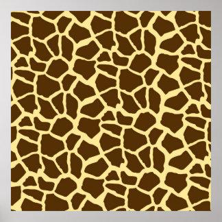 Yellow and Brown Giraffe Animal Print