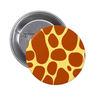 Yellow and Brown Giraffe Pattern 6 Cm Round Badge