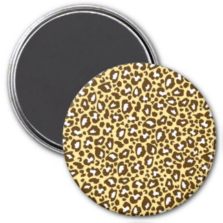 Yellow and Brown Leopard Spotted Animal Print Magnet