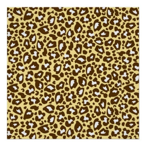 Yellow and Brown Leopard Spotted Animal Print
