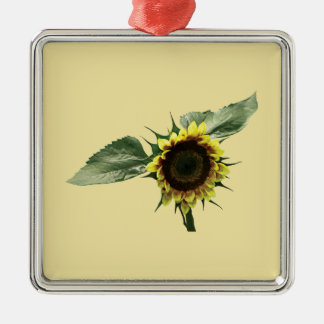 Yellow and Brown Sunflower Christmas Ornament