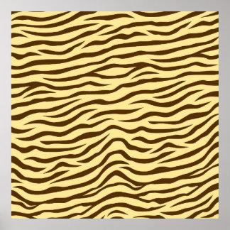 Yellow and Brown Zebra Stripes Animal Print