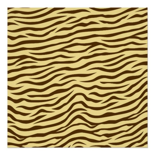 Yellow and Brown Zebra Stripes Animal Print