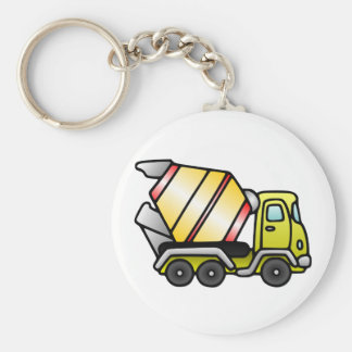 Yellow and Cement Mixer Key Chain