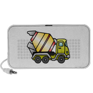 Yellow and Cement Mixer Portable Speaker