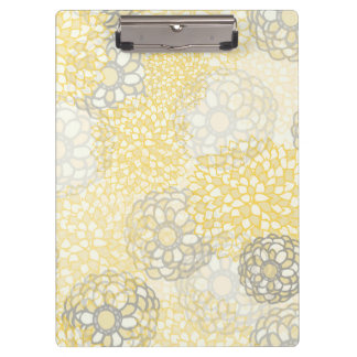 Yellow and Clay Flower Burst Design Clipboard