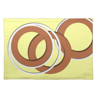 Yellow and Cocoa circles Place Mat
