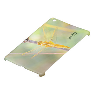 Yellow and Gold Colored Dragonfly iPad Mini Cover